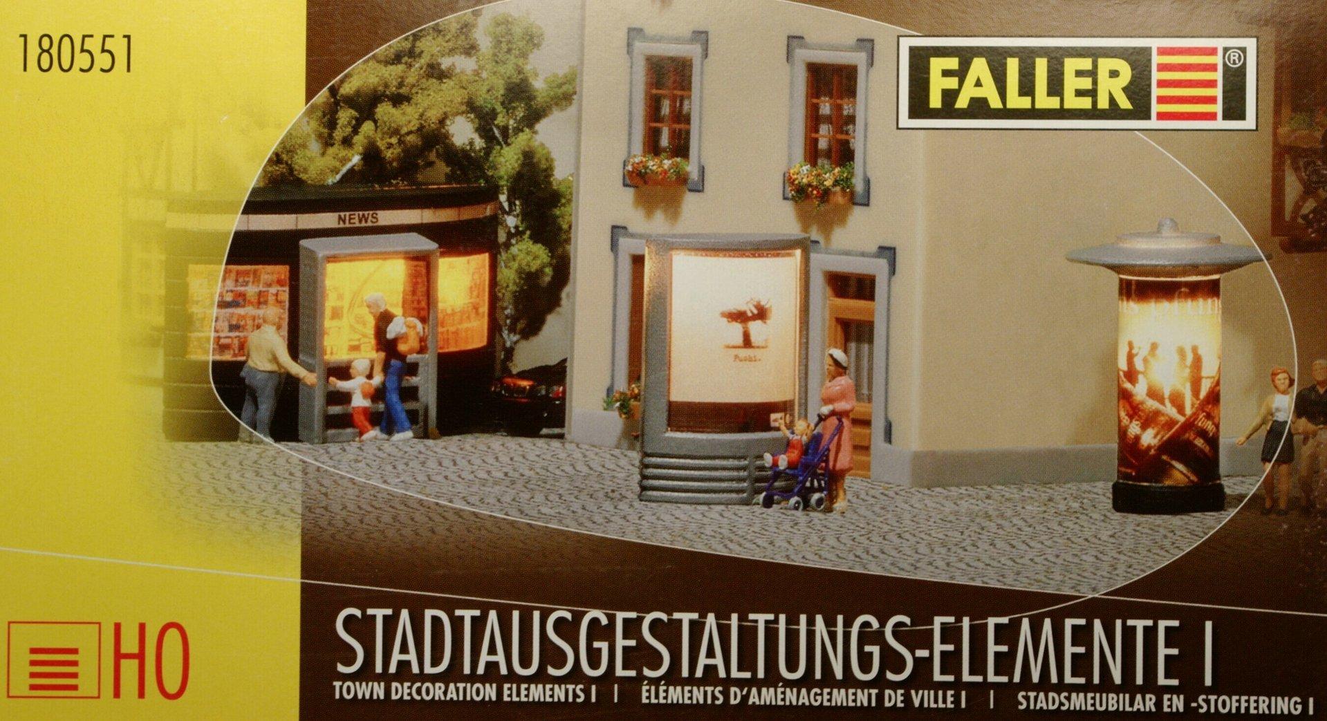 Faller 180551 Stadtausgestaltungs Elemente I