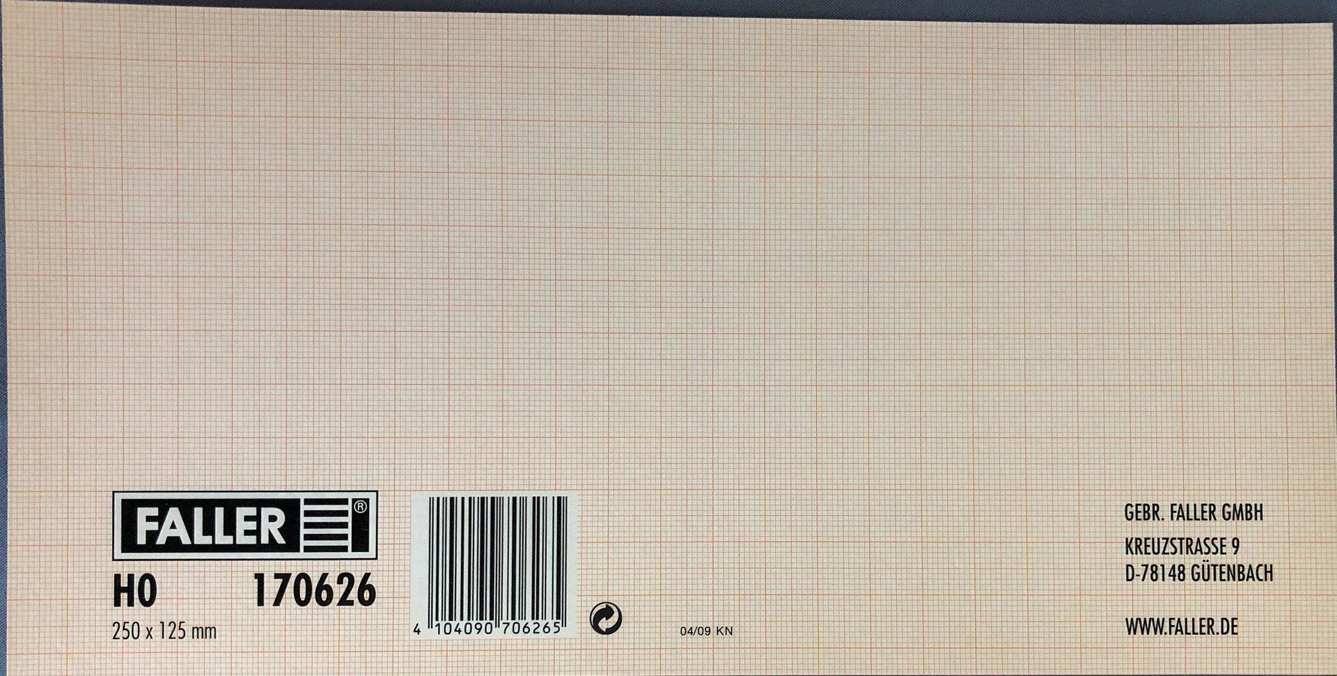 Faller 170626 Mauerplatte Waschbeton