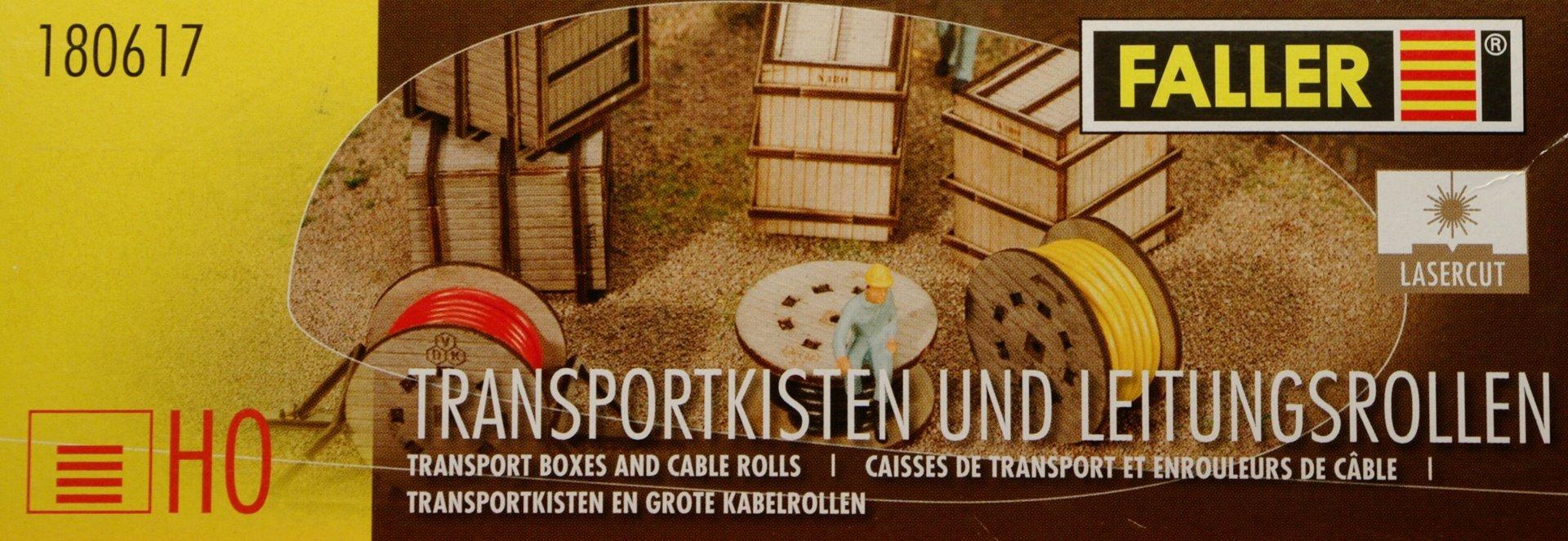 Faller 180617 Transportkisten und Leitungsrollen