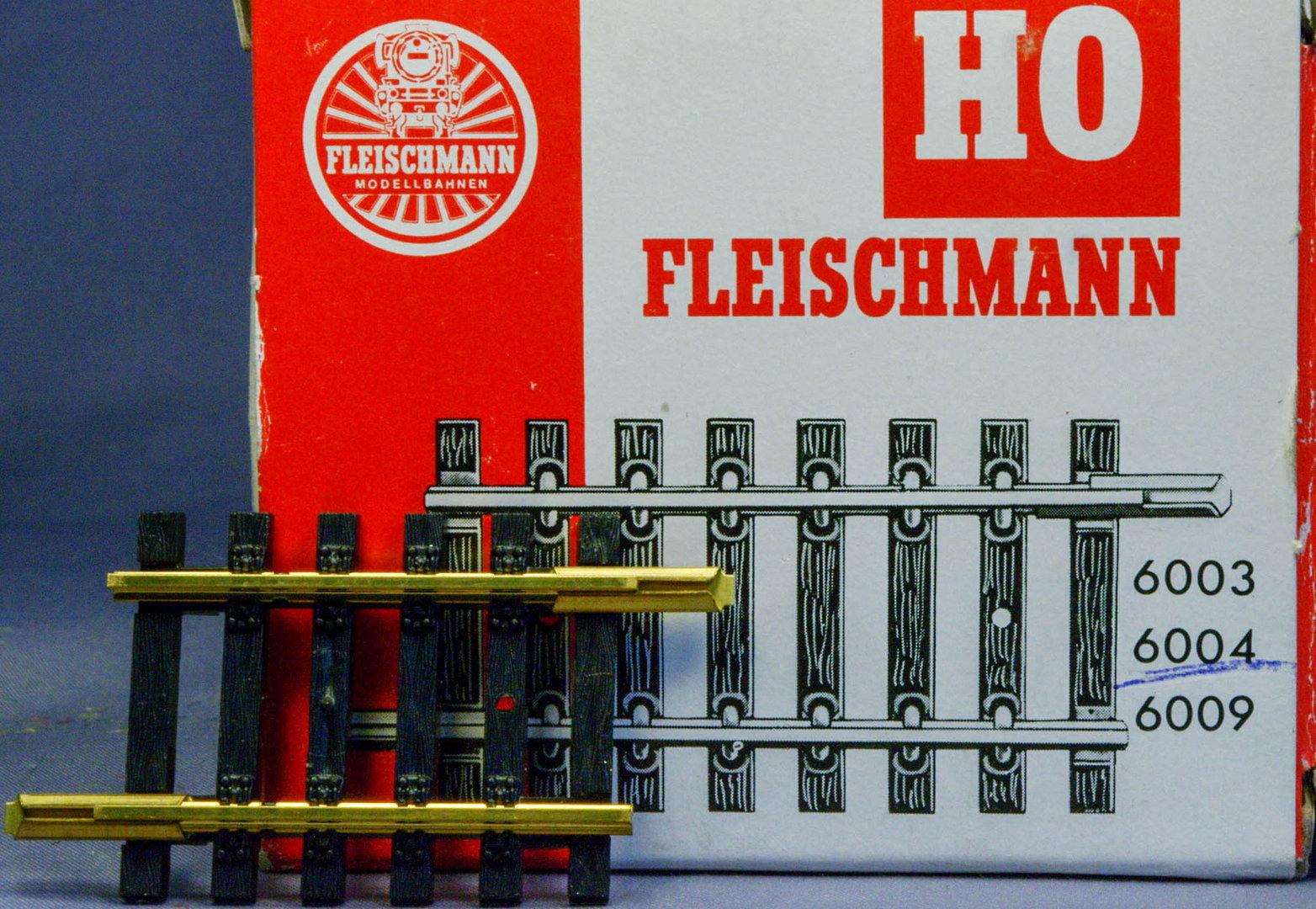 Fleischmann H0 6004 Modellgleis gerades Gleis 40 mm