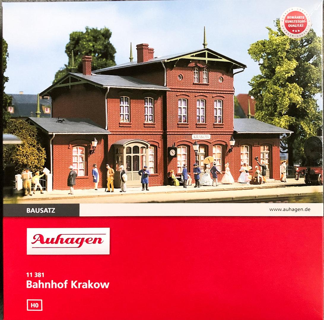 Auhagen 11381 Bahnhof Krakow in H0 Bausatz